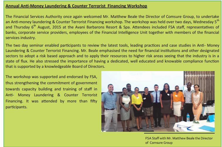 Annual AML & CTF Workshop