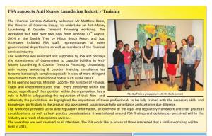 FSA supports AML Industry training